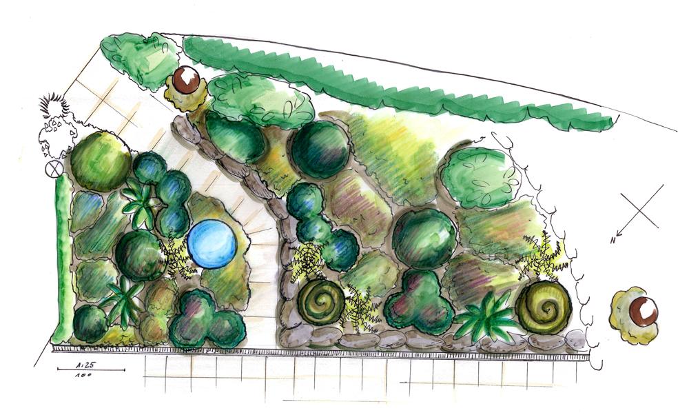 Garten design hamburg terrassenbeet - Pflanzplan vorgarten ...
